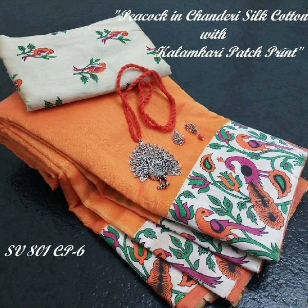 c588045394 SV 306 chanderi silk cotton sarees Manufacturer in West Bengal India ...