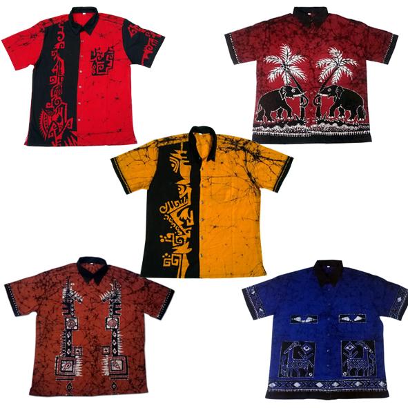 Mens Batik Print Shirts Manufacturer In Southern Province