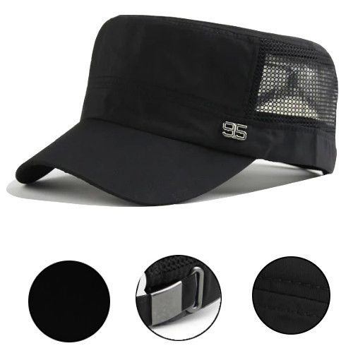 f1b999290f Men Women Army Plain Hat Sunshade Military Mesh Cadet Outdoors ...