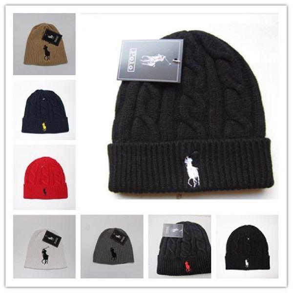 812961274ce89a Men Women Lambs Wool Polo Color Beanie Skull Knit Winter Hat Hip Hop  (HBE-007)