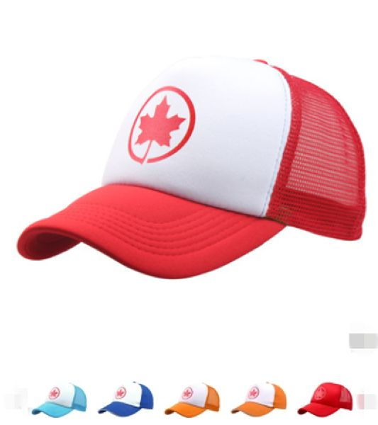 79069dfdb50 Summer Air-Canada Maple Leaf Hat Mesh Baseball Caps Hat For Men Women  (HC-008)