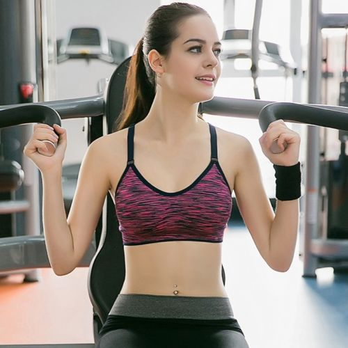 4445a80e523b2 Women Yoga new champion Fitness Stretch Workout Tank Top Seamless Padded  Sports Bra (GSB-002)