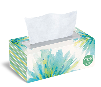 wet facial tissue