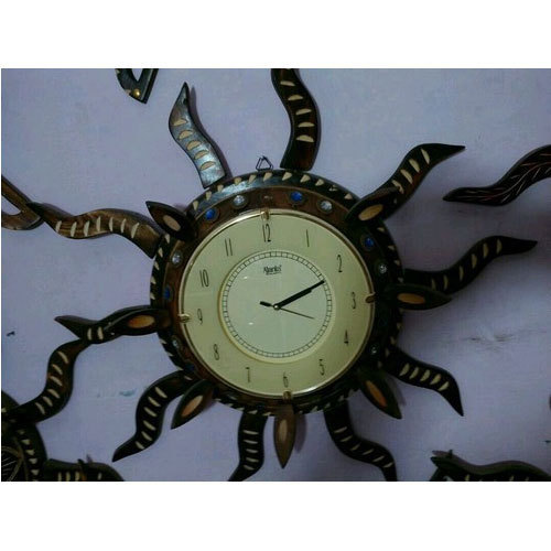 Designer Wooden Clock Manufacturer In Saharanpur Uttar Pradesh India