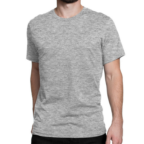 d0a34e6b10b Mens Grey Round Neck Plain T-Shirts Manufacturer in Dera Bassi ...