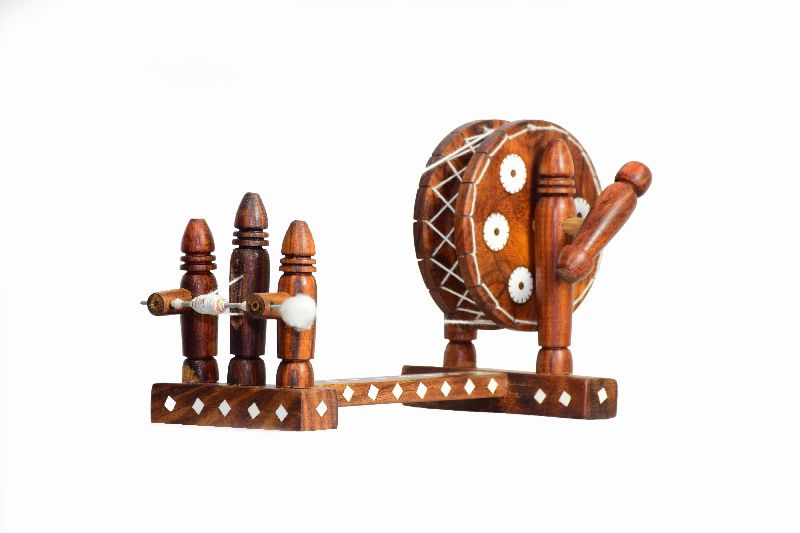Wooden Decorative Charkha Manufacturer in Punjab India by
