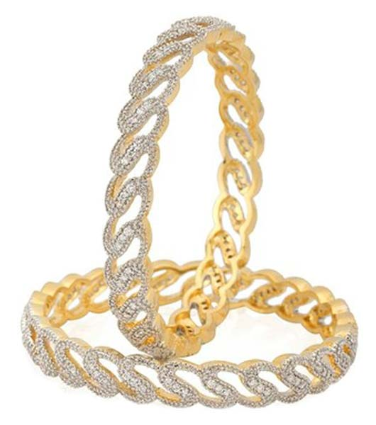 Buy Penny Jewels Gold Plated American Diamond Beatuiful