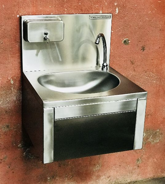 SS Knee Operated Hand Wash Sinks