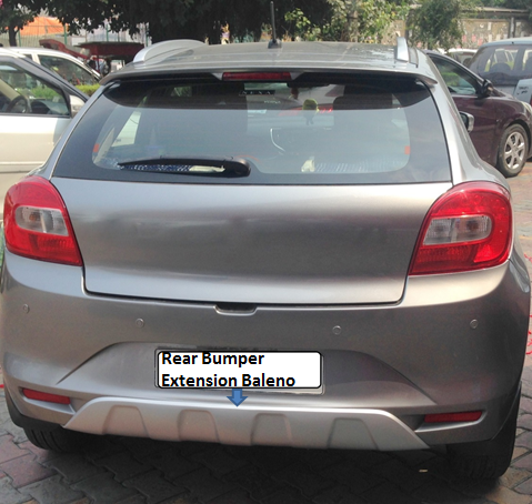 Buy Rear Bumper Extension Diffuser Baleno From Shubh