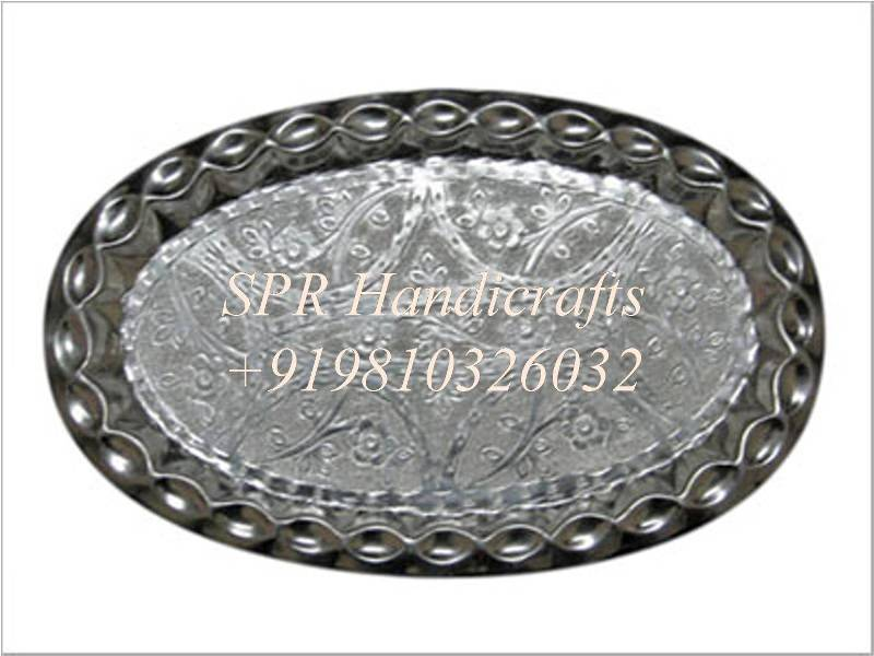 anodized aluminium oval thali
