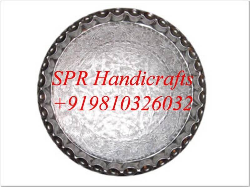 anodized aluminium round thali