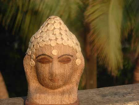 Jute Buddha Head