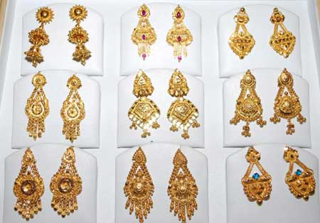 Buy Gold Fancy Earrings from A R V Gold Export Coimbatore