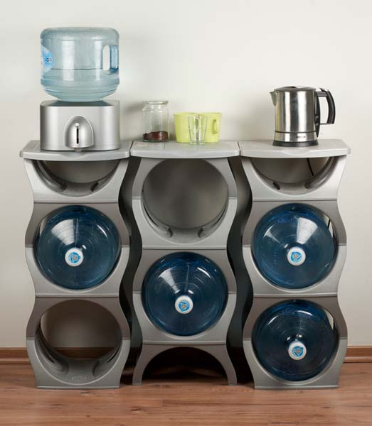 Plastic Water Bottle Rack