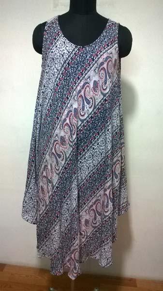 Rayon Sleeveless Holiday Wear Dress (8115)