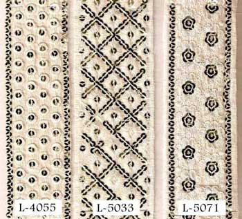 Cotton laces, Embroidered Lace (Cotton laces.(cambri)