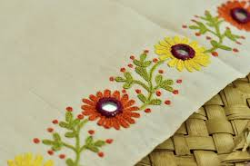 Hand Made Embroidery Designs For Sarees