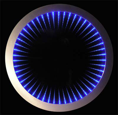 Infinity mirror manufacturer in rajkot gujarat india by for Miroir infini led