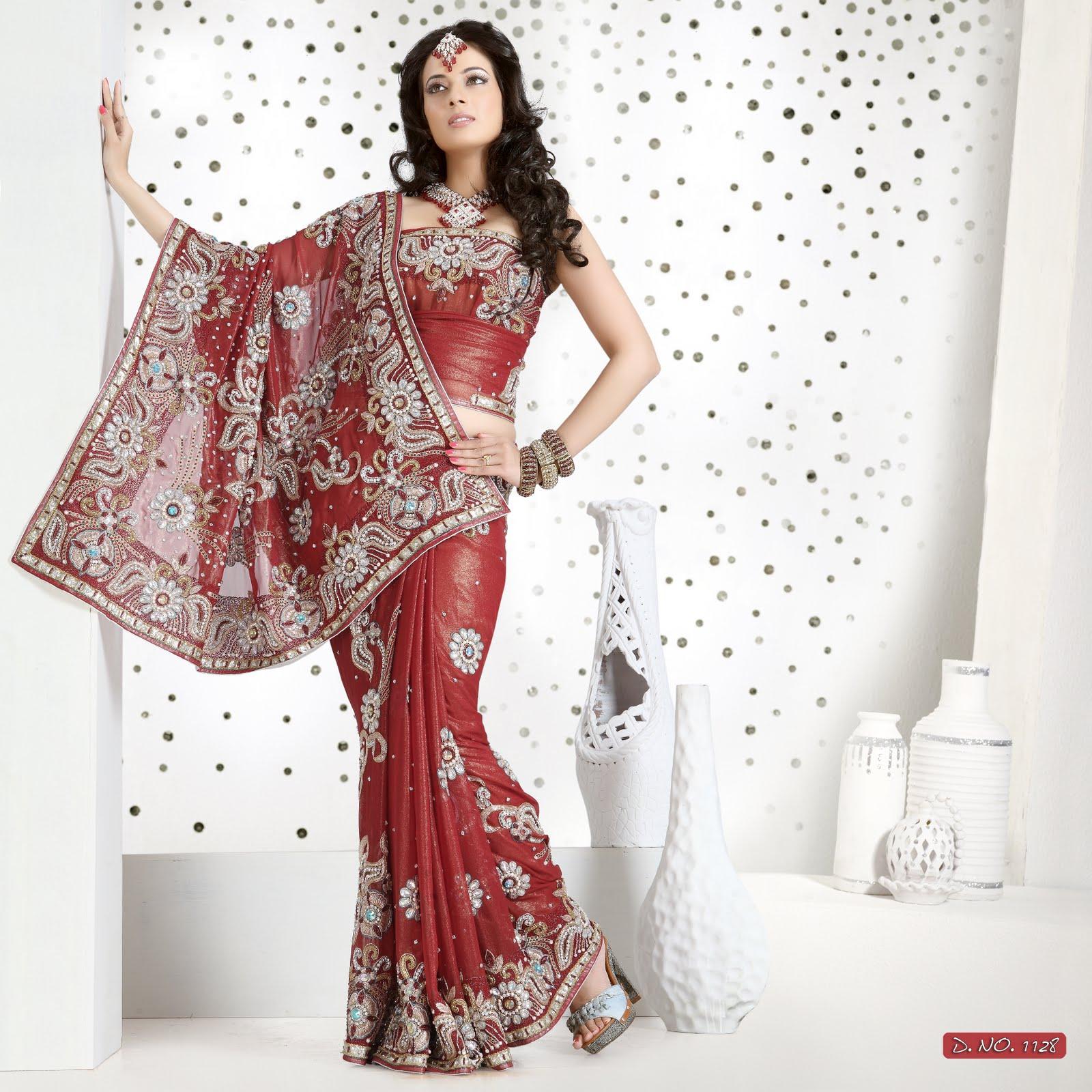 Indian Bridal Wedding Saree 1143