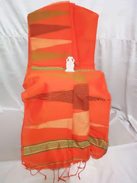 handloom silk cotton temple jamdani saree (KKSA_12010520100KKK)