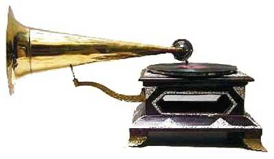 4-Corner HMV Long Horn Gramophones (4-Corner HMV Long Ho)
