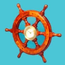 Ship Wheel Porthole Clock (Ship Wheel Porthole )