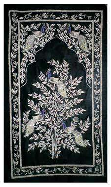 Peacock Embroidered Wall Hanging (Peacock Embroidered )
