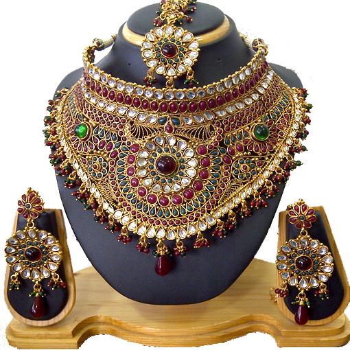 Buy Grand Designer Wedding Bridal Costume Jewellery From Kabir Jewels Pvt Ltd Id 194862