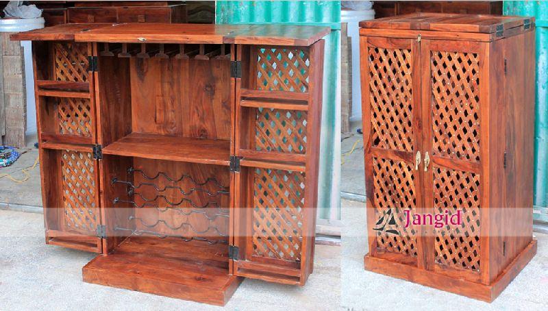 Buy Indian Wooden Wine Bar From Jangid Art Crafts Jodhpur