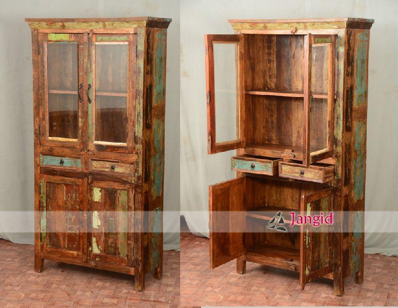 Buy Reclaimed Wood Bedroom Almirah Design From Jangid Art Crafts