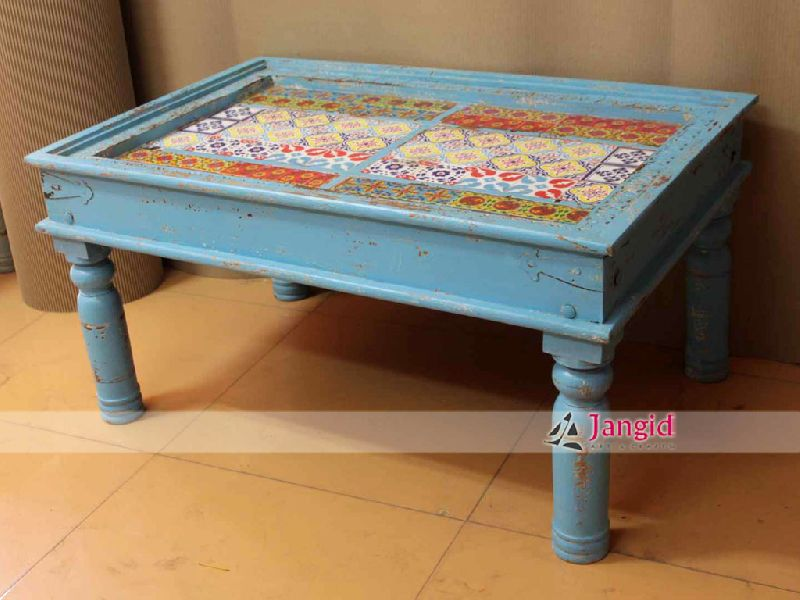 Traditional Indian Wooden Coffee Table Design