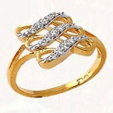 Ladies Gold Diamond Rings