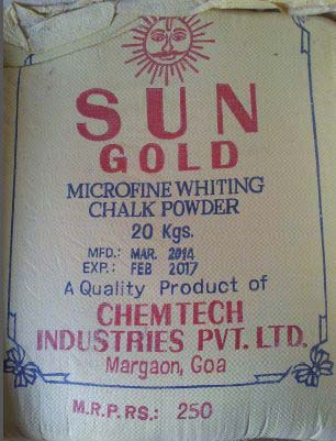 Sun Gold Whiting Powder Manufacturer in Goa India by