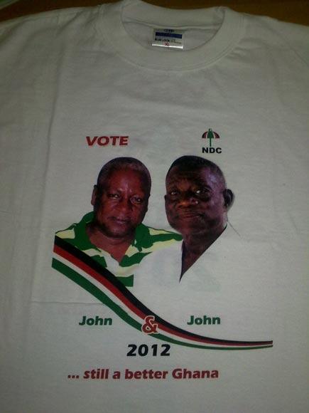 Ghana 2 - Election Photo Printed Tshirts (ELECTION KEN)