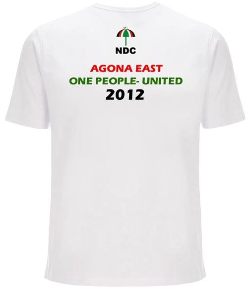 Ghana Bk - Election Photo Printed Tshirts (ELECTION KEN)
