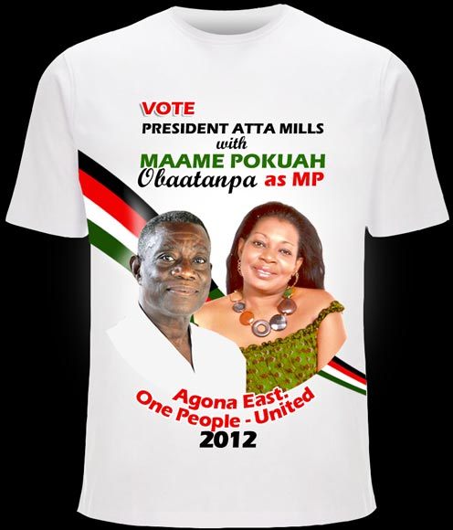 Ghana Fr - Election Photo Printed Tshirts (ELECTION KEN)