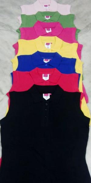 Ladies Sleeveless Polo T-Shirts