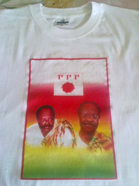 t-shirt for election (gh white)