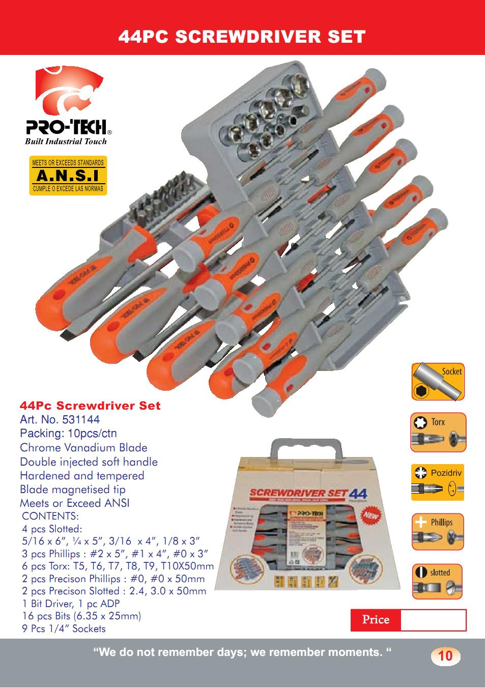 44 pc screw driver sets (SD8)