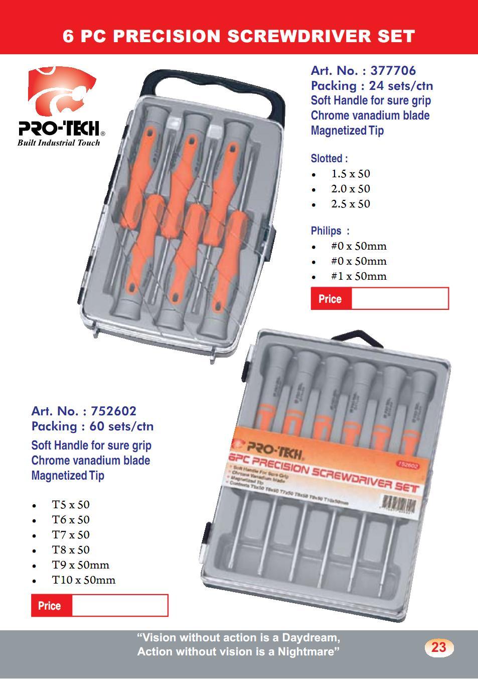 6 PC Precision Screwdriver Set (SD18)