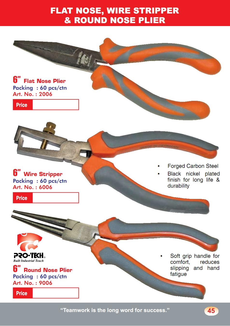 Flat Nose Wire Stripper and Round Nose Plier (PL05)