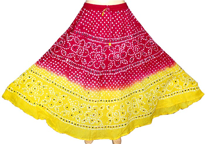 0ea192a39 Buy Cotton Long Skirts With Sequins Work from Jaipuri Bandhej, India ...