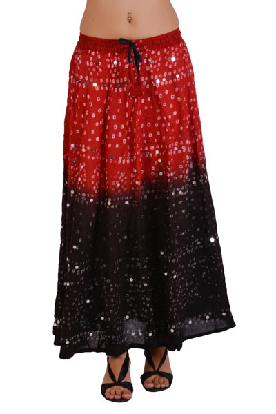 2f5c5ad14 Buy Ethnic Style Sequins Work Bandhej Skirt from Jaipuri Bandhej ...