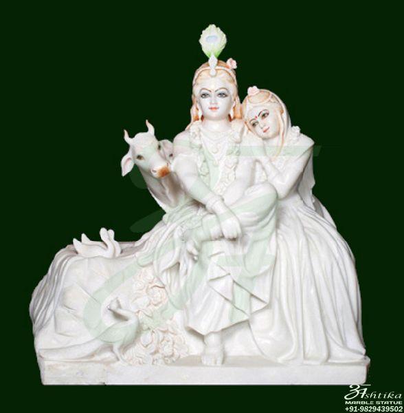 White Marble Radha Krishna Statue Manufacturer In Jaipur Rajasthan
