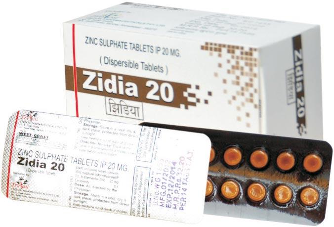 Zinc Dispersible Tablets Manufacturer Manufacturer From India