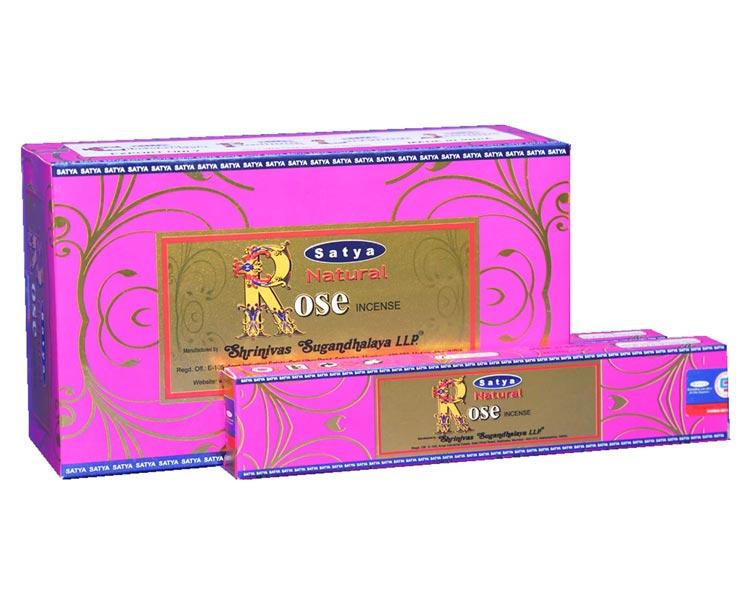 3 Packs Mystic Rose Incense Sticks Satya Ayurvedic Range