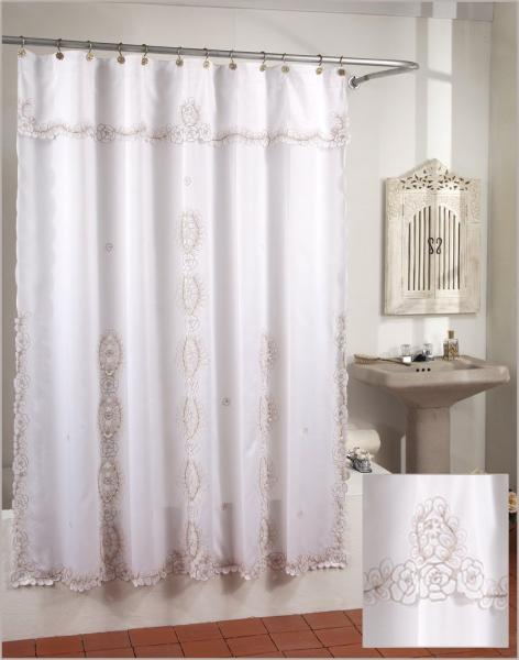 Embroidered Shower Curtain NA 04638