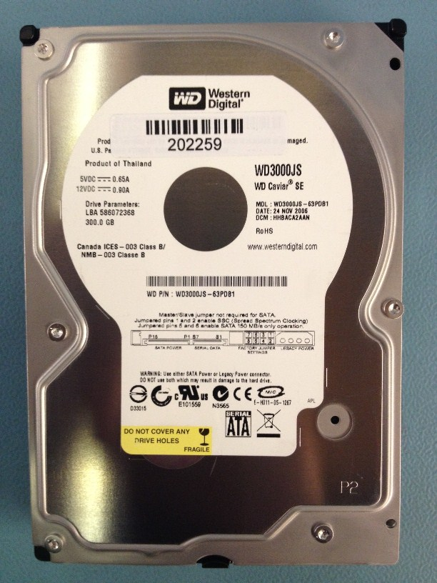 WD3000JS 300GB Sata (HDD)
