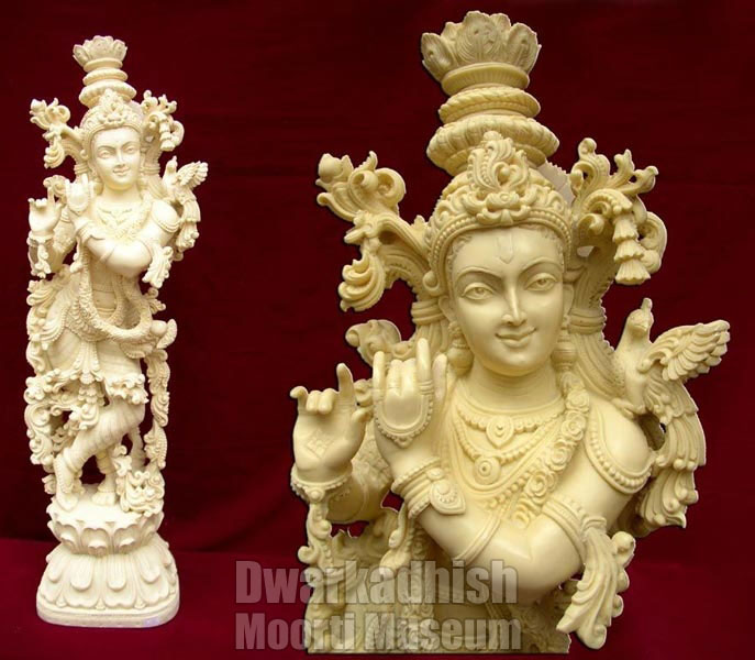 Buy Synthetic Marble Krishna Statue From Dwarkadhish