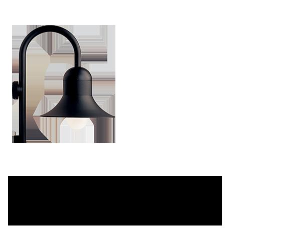 Atlantic Sheppards crook medium shade wall light